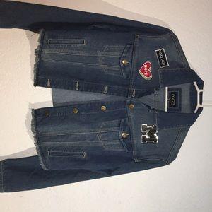 Dark washed jean jacket